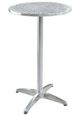 Stainless steel round bar table
