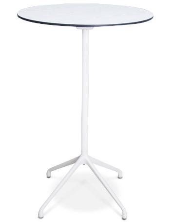 White HPL top metal base folding bar table