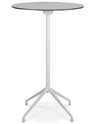 Black HPL top white metal base folding bar table