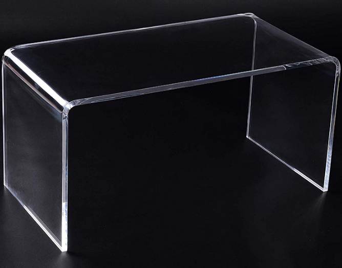 Clear Acrylic bent coffee table for wholesale