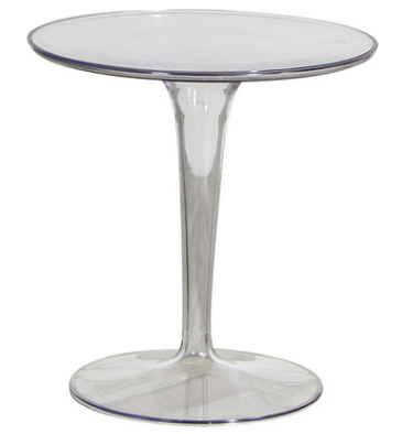 Clear transparent Acrylic round cafe table