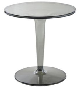 Transparent Smoke gray Acrylic round cafe table