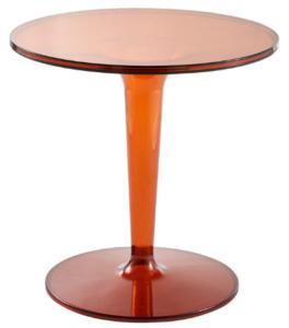 Transparent Tan Acrylic round cafe table