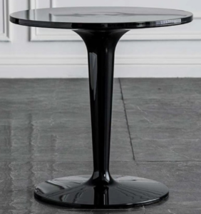 Matte shiny black Acrylic round cafe table