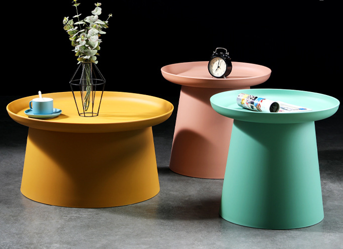 Colorful plastic side table
