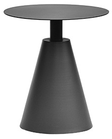 Aluminum outdoor side table in black