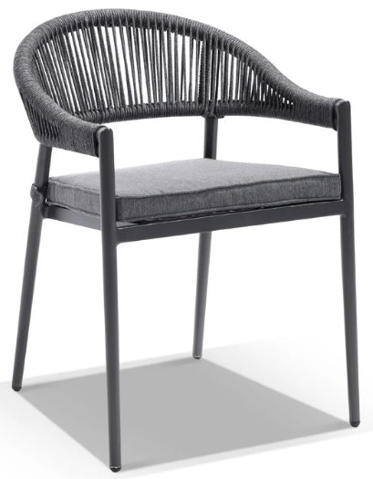 Outdoor Aluminium Frame Rope Stackable Dining Chair