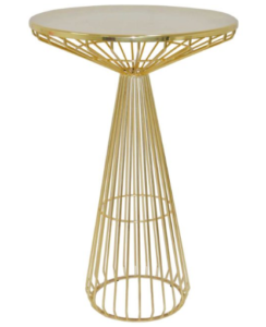 Gold metal wire cocktail table