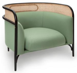 Ash wood cane back lounge sofa chair