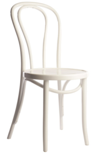Replica Thonet bentwood chair in white