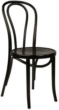 Replica Thonet bentwood chair in black