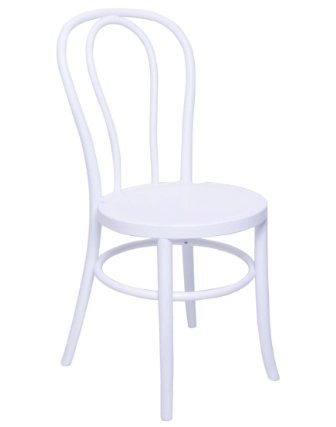 Resin Thonet Chair in Glossy White - stackable