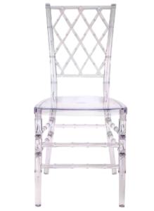 Clear Transparent Resin Chiavari Diamond Chair