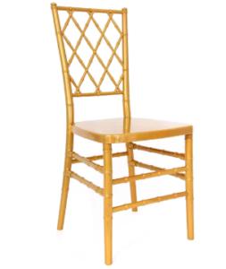 Resin Chiavari Diamond Chair in gold