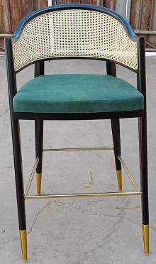 Restaurant wooden cane armchair