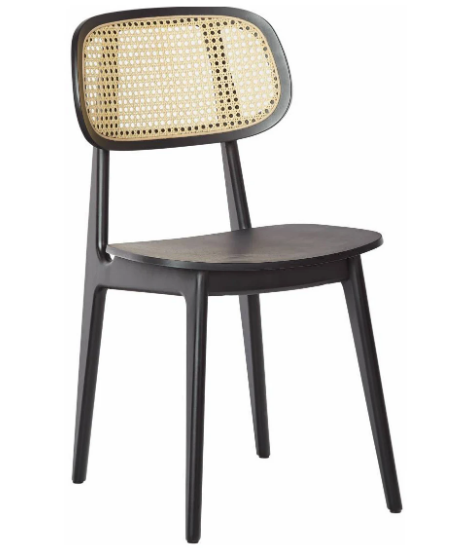 Wooden cane back restaurant dining chair