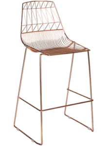 Copper Arrow Wire Stackable Bar Chair