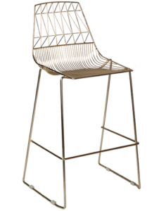 Gold Arrow Wire Stackable Bar Chair