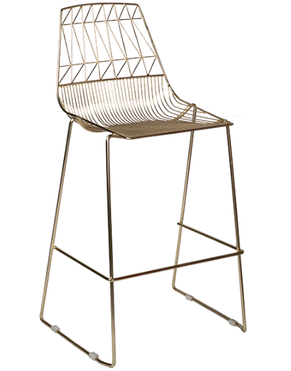 Black Arrow Wire Stackable Bar Chair