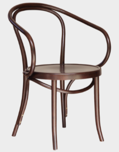Walnut bentwood thonet restaurant armchair