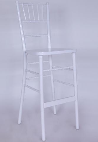 White wood stackable chiavari tifany bar chair