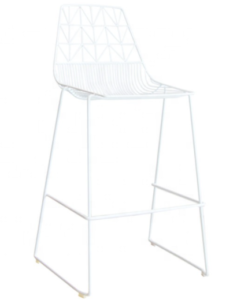 White metal wire bar chair arrow wire barstool