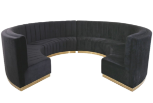 Round sectional curved lounge booth seating for wedding