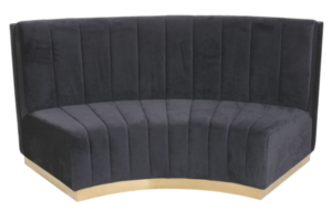 Sectional sofa curved velvet lounge sofa for party