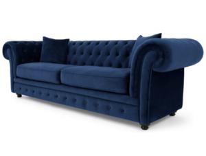 Blue velvet tufted sofa for wholesale