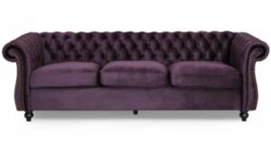 Chesterfield Tufted Purple Velvet Luxurious Sofa