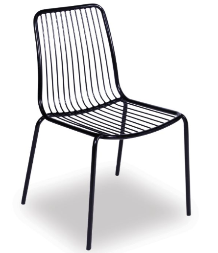 Black wire dining chair l Mino furniture