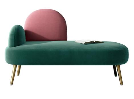 Gold stainless steel legs velvet uphlostered lounge sofa