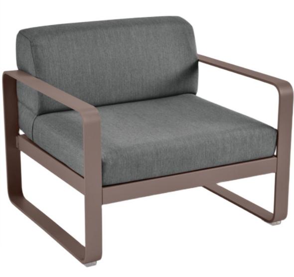 Outdoor sofa aluminnum frame upholstered lounge sofa