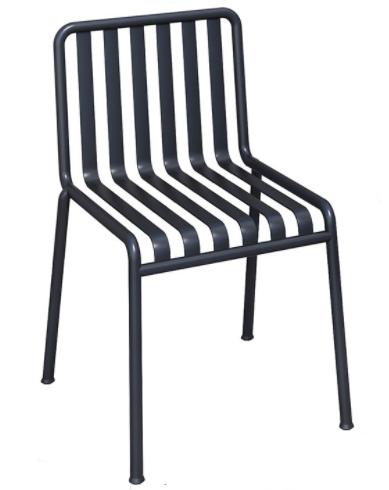 Black aluminum stacking outdoor garden chair