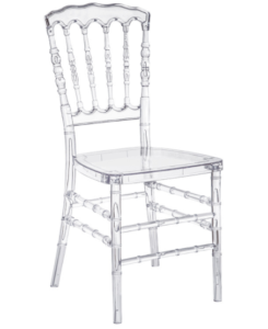 Clear transparent Resin Stackable Napoleon chair