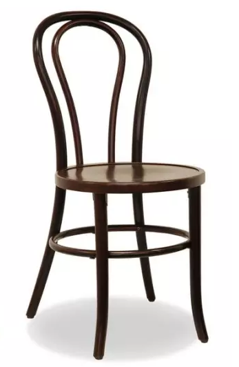 Bentwood walnut stackable thonet dining chair