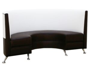 Stainless steel legs PU leather upholostered booth seating