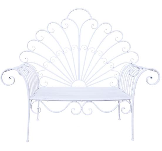 Wedding chair white metal peacock lounge chair