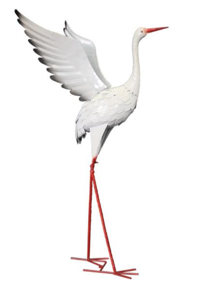 White metal Cranes for outdoor wedding decoration