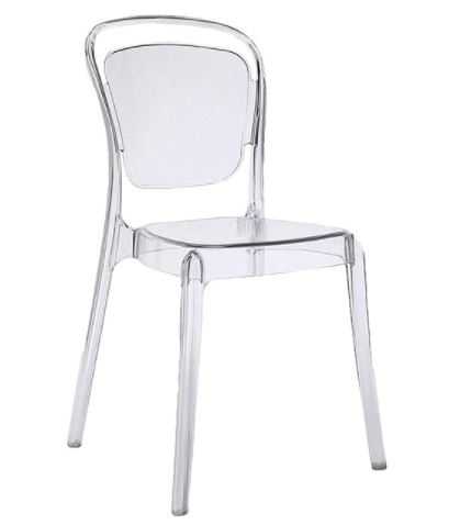Clear transparent PC stackable chair
