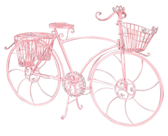 Wedding accessory metal bicycle for wedding decoration