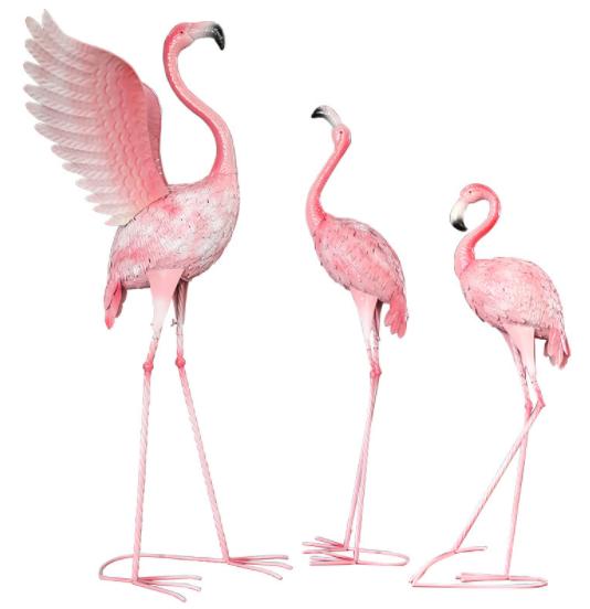 Wedding accessory metal Flamingos accessory for wedding decoration
