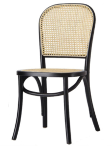 Beech wood cane dining chair for wholesale