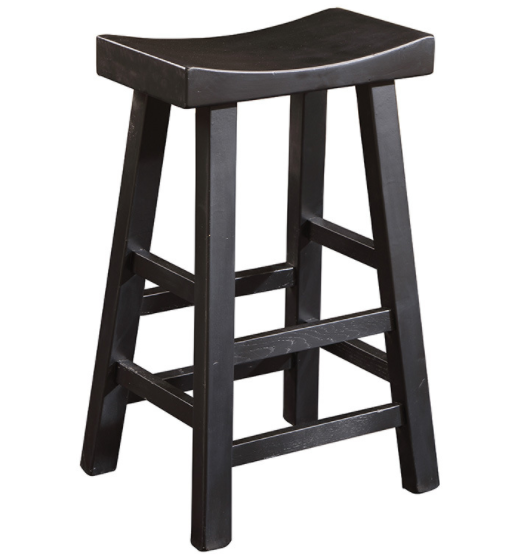 Solid wood counter stool in black