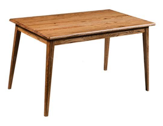 Vintage look oak wood rectangle dining table