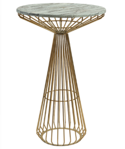 Golden base metal wire cocktail table