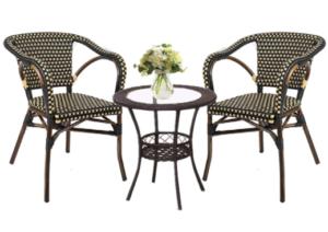 Aluminum Frame Patio Outdoor Rattan Wicker Chair Stackable Armchair