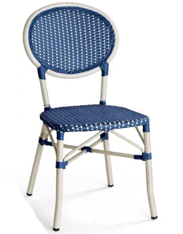 All-weather wicker furniture aluminum frame cafe chair