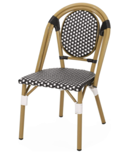 Outdoor French Bistro Chairs With Bamboo Finish
