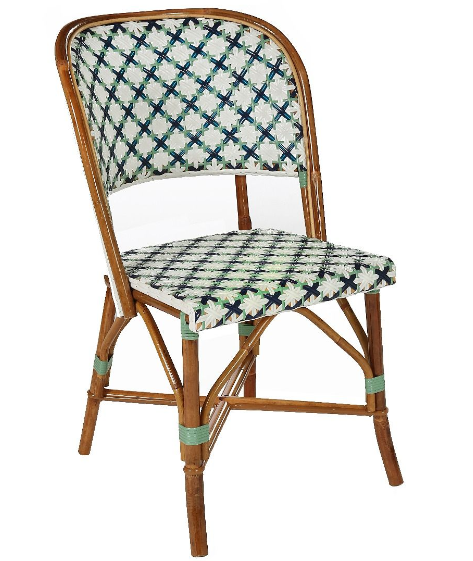 Outdoor French Bistro Bamboo Finish Restaurant Chair
